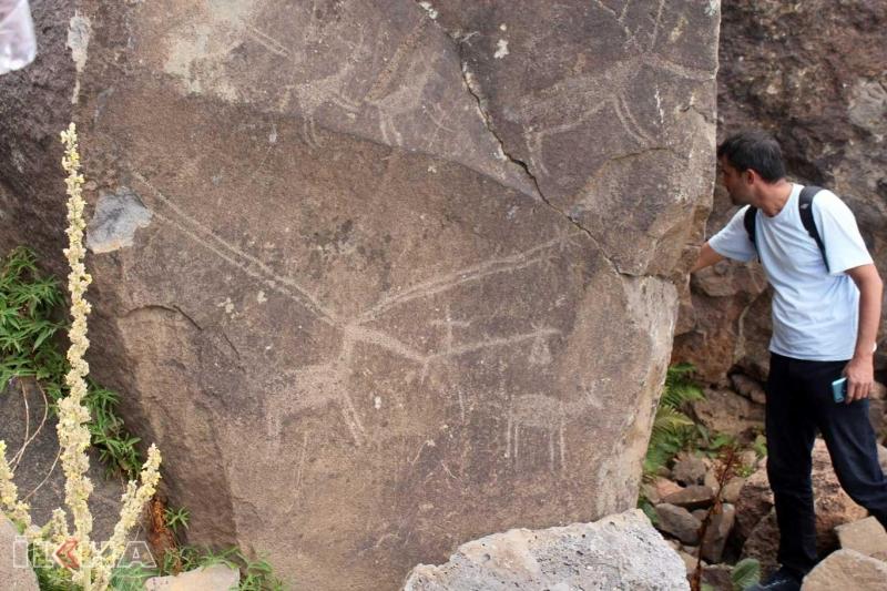 12 Bin Yıllık Kaya Resimleri ve Yaşam Alanı Bulundu