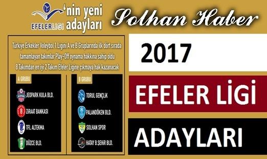 2017-2018 TVF Efeler Ligi Adayları