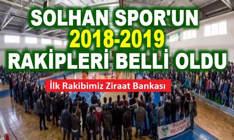 2018-19 Solhan Spor'un Rakipleri Belli Oldu.