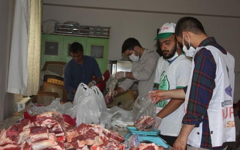3 Bin 150 Aileye Kurban Eti Ulaştırıldı