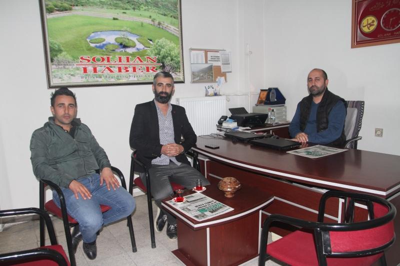 AK PARTİ'DEN SOLHAN HABER'E NEZAKET ZİYARETİ