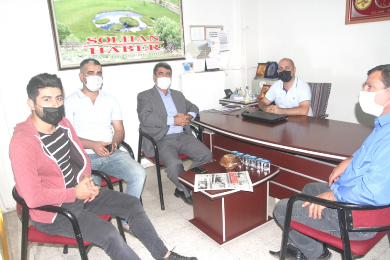 Başkan Çalışan'dan Gazetemize Ziyaret
