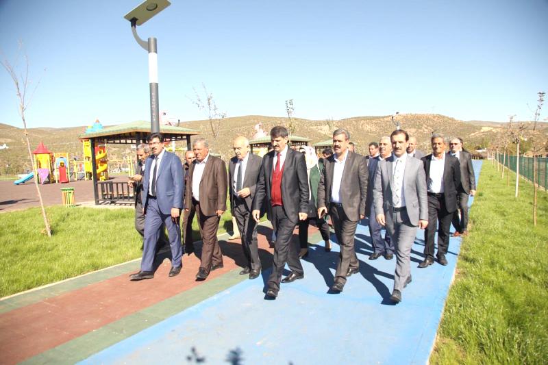 Başkanlar, Millet Bahçesini İnceledi