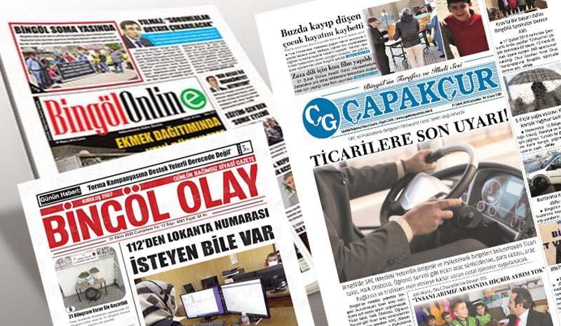 Bingöl'de 9 Gazete Birleşti