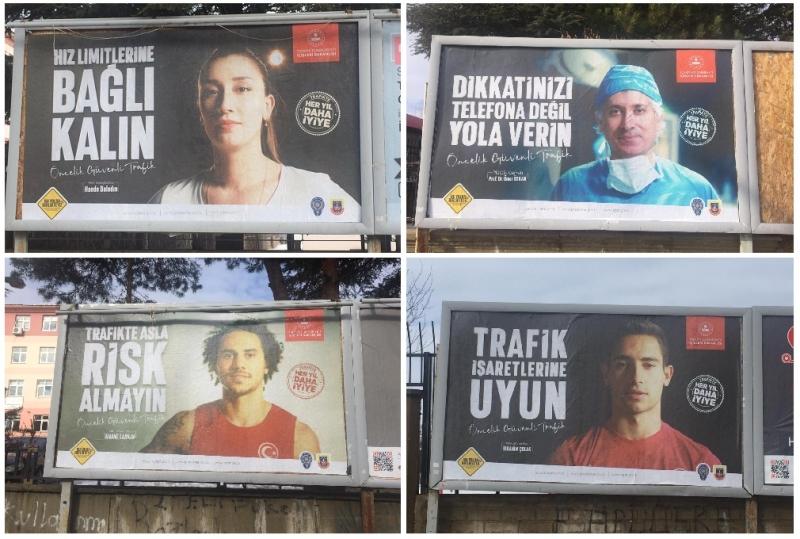 Bingöl'de Bilinçli ve Güvenilir Trafik için Billboardlara Afişler Asıldı