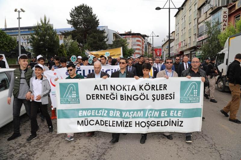 Bingöl'de Farkındalık Yürüyüşü Düzenlendi