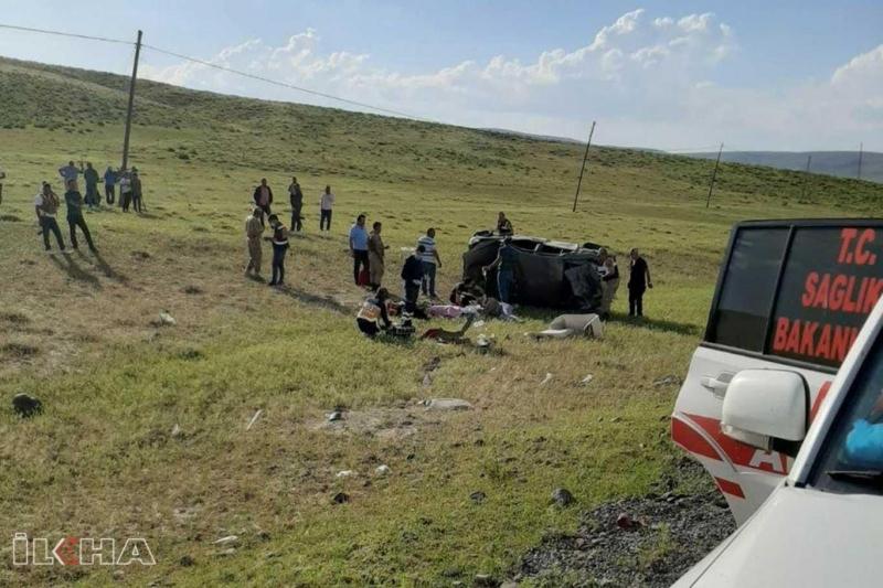 Bingöl'de kaza: 2 ölü, 3 yaralı
