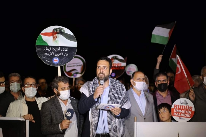 Bingöl'den Siyonist İşgale Tepki Filistin Direnişine Destek