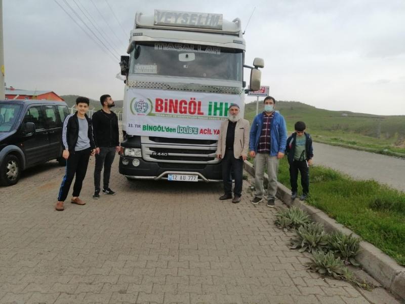 Bingöl'den Suriye'ye 33. İnsani Yardım Tırı