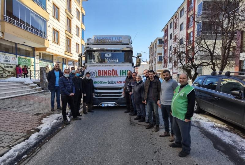 Bingöl'den Suriye'ye 31. İnsani Yardım Tırı
