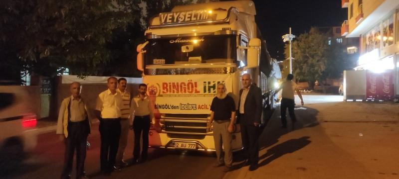 Bingöl'den Suriye'ye 34. İnsani Yardım Tırı