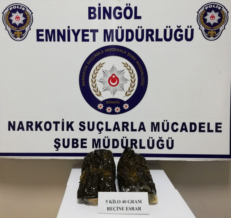 Bingöl'ün 1 Aylık Uyuşturucu Bilançosu