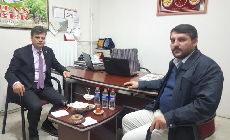 Emniyet Müdürü Seyman'dan Gazetemize Ziyaret