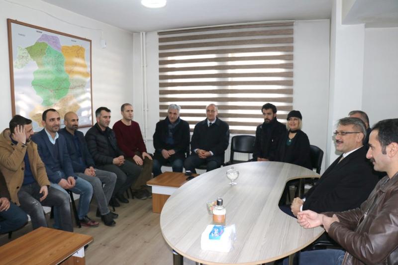 Gazeteciler Cemiyetine '10 Ocak' Ziyaretleri