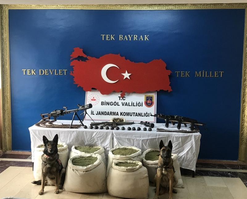Genç'te PKK'ya Ait Uyuşturucu, Silah ve Mühimmat Ele Geçirildi