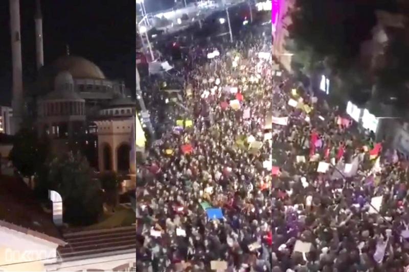 Göstericilerden Ezana Büyük Saygısızlık