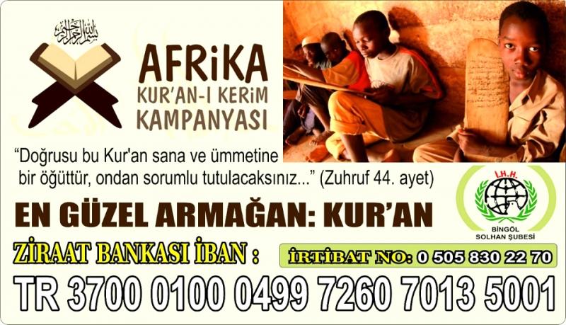 İHH'dan Afrika'ya Kur'an-ı Kerim Kampanyası