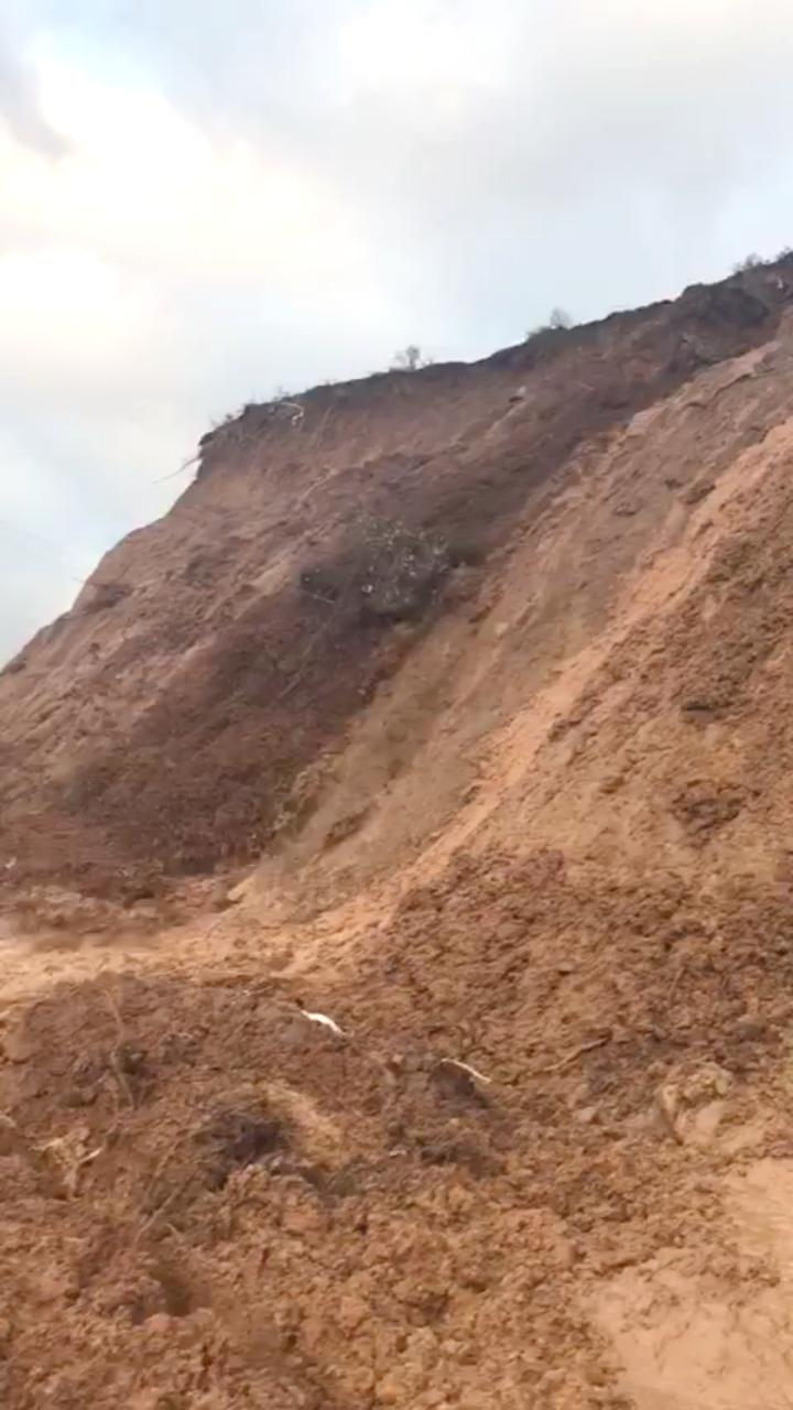 İnandık Köyünde Toprak Kayması