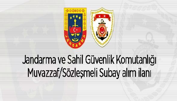 Jandarma ve Sahil Güvenlik Komutanlığı Muvazzaf/Sözleşmeli Subay Alacak