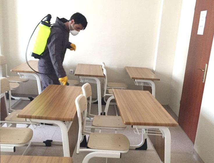 Kamu Kurumları ve Okullar Dezenfekte Edildi