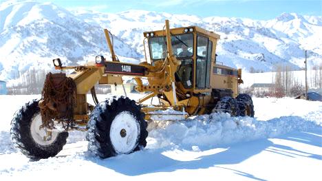 Kar Yağışı Nedeniyle Köy Yolları Kapandı
