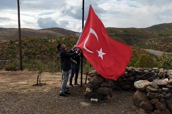Korucu Noktalarına Bayrak Direkleri Dikildi