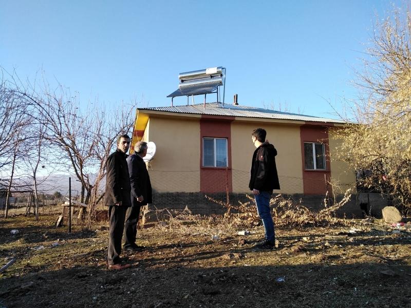 Köy Evlerine Hibeli Güneş Enerjisi Kuruldu