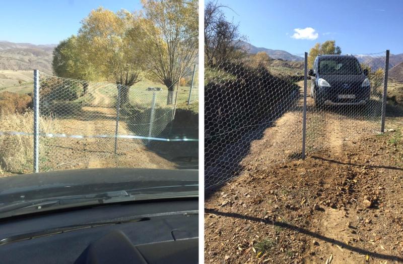 Köy Yoluna Tel Örgü Çekip Ulaşıma Kapattı