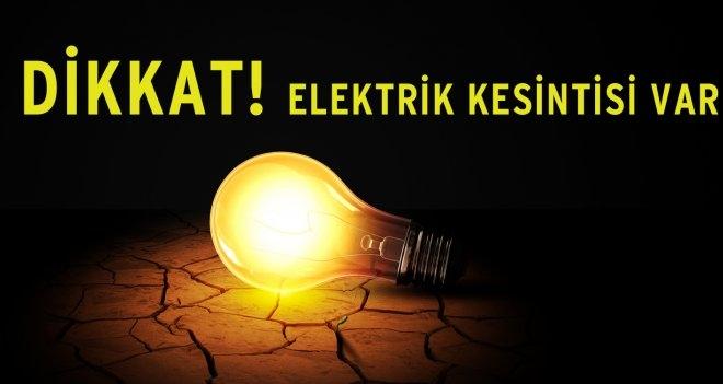 Dikkat!.. Köylerde Elektrik Kesintisi Var