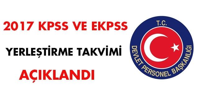 KPSS ve EKPSS Yerleştirme Takvimi Açıklandı