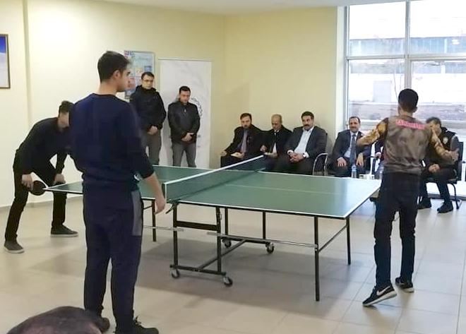 Masa Tenisi Turnuvası Tamamlandı