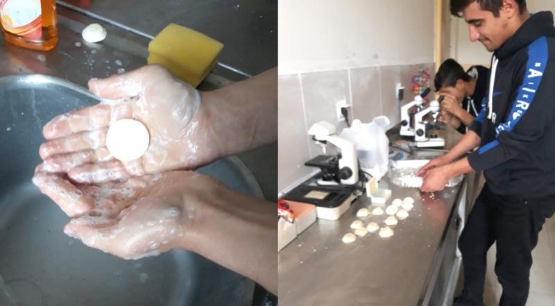 Öğrenciler Atık Yağlardan Sabun Yaptı