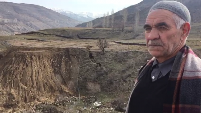 Oymapınar'da Toprak Kayması Korkuttu