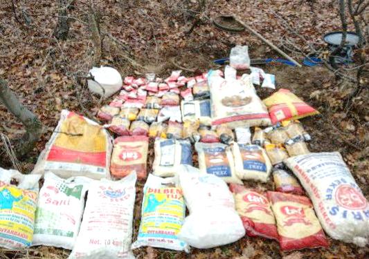 PKK'ya Ait Gıda Maddesi Ele Geçirildi