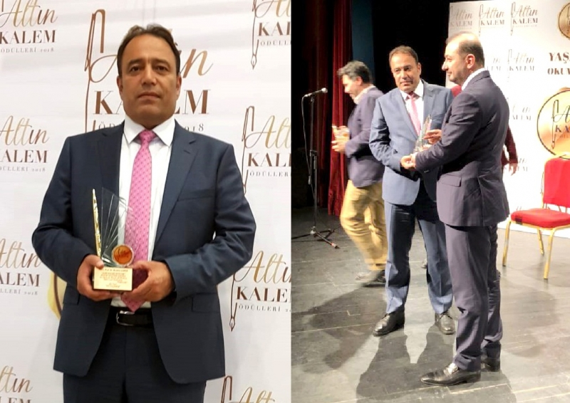 Prof. Dr. İbrahim Çapak'a Altın Kalem Ödülü