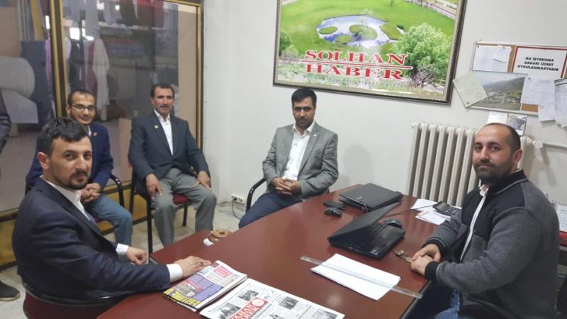 Saadet Partisinden Solhan Haber'e Ziyaret