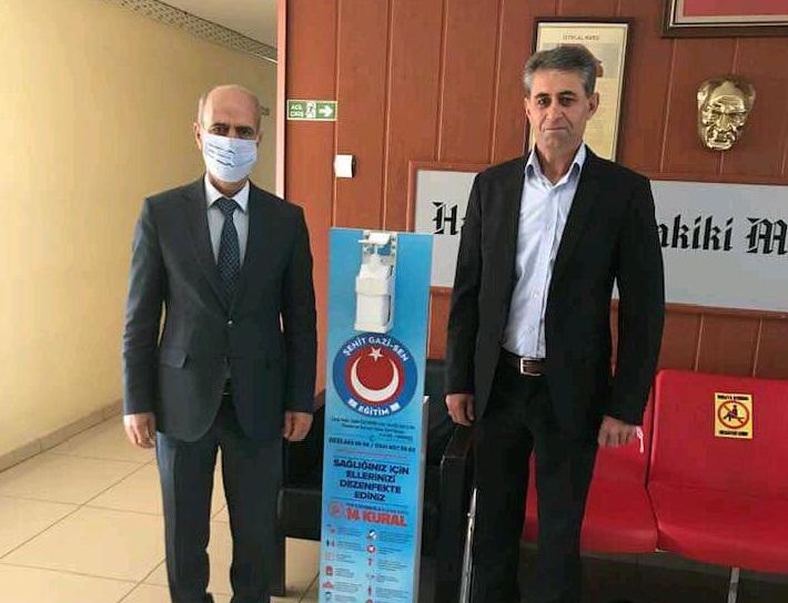 Şehit Gazi-Sen, Bazı Okullara Dezenfekte Standı Verdi