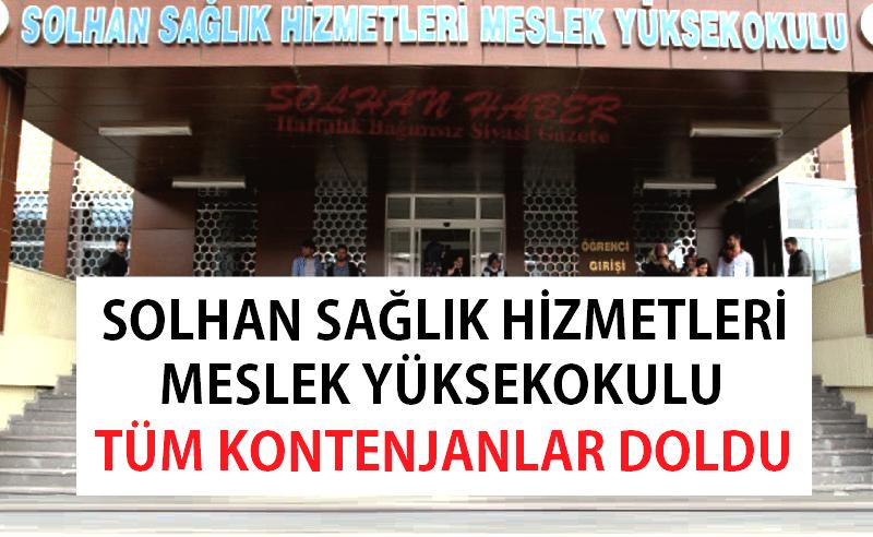 Solhan Meslek Yüksekokulundaki Tüm Kontenjanlar Doldu