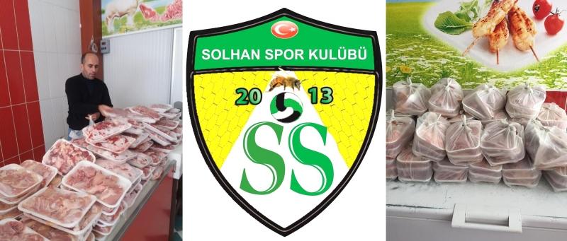 Solhan Spor'dan 50 Aileye Et Yardımı
