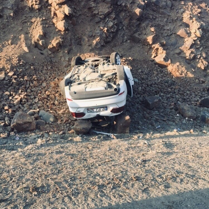 Solhan Yolunda Trafik Kazası: 2 Yaralı