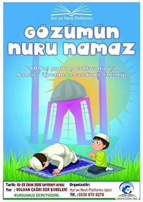 Solhan'da 'Gözümün Nuru Namaz' Programı