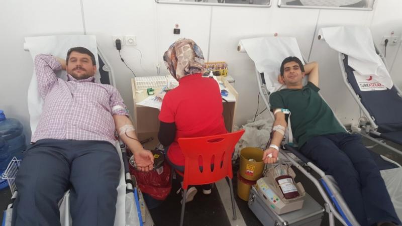 Solhan'da Kızılay'a Kan Bağışı