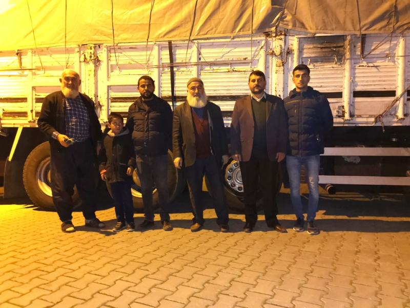 Solhan'dan Suriyeliler için Yardım TIR'ı