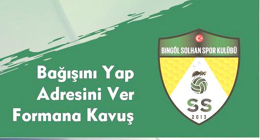 Solhanspor'dan 'Bir Formada Benden' Kampanyası