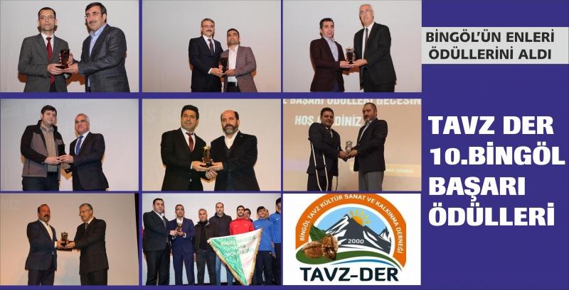 Tavz-Der'in 10. Başarı Ödülleri Sahiplerini Buldu