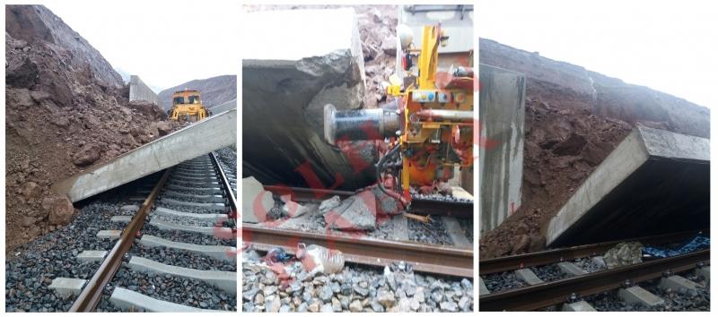 Toprak Kayması, Demiryoluna Zarar Verdi
