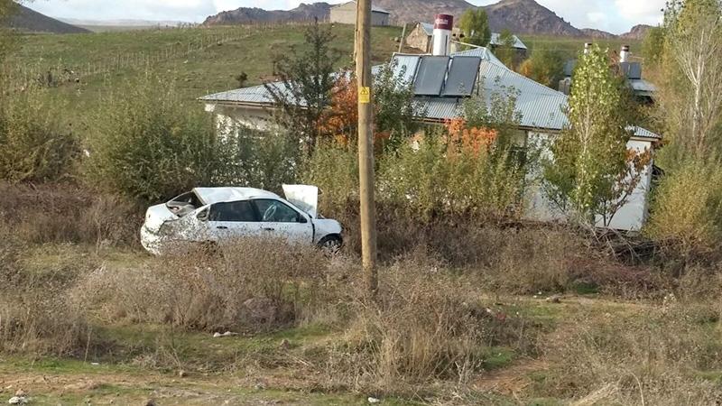 Trafik Kazasında Şoför Ağır Yaralandı