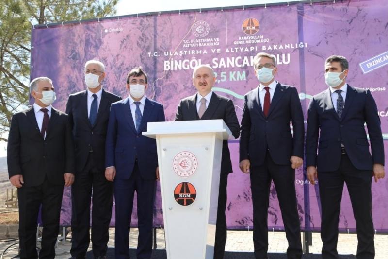 Ulaştırma ve Altyapı Bakanı Karaismailoğlu Bingöl'de