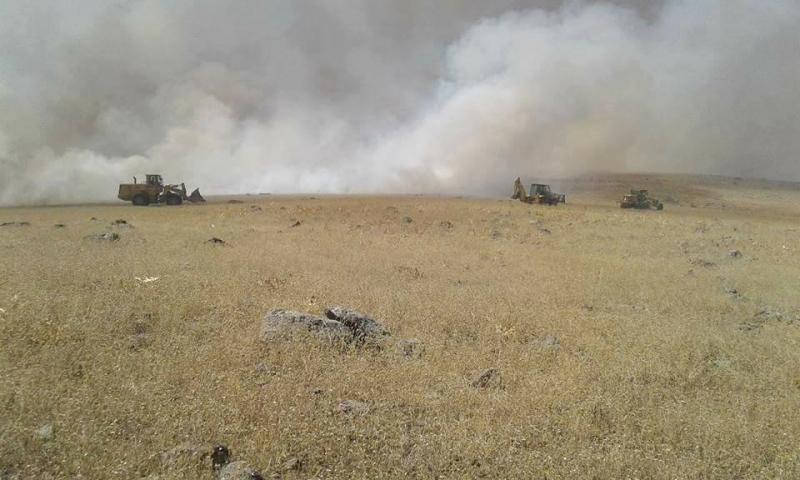 Yiğitharman Köy Merasında Yangın Çıktı
